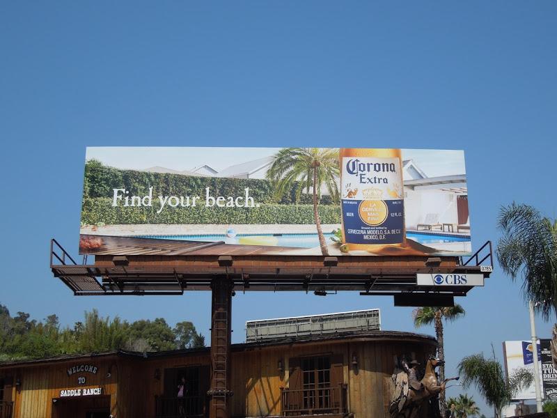 Corona beer billboard