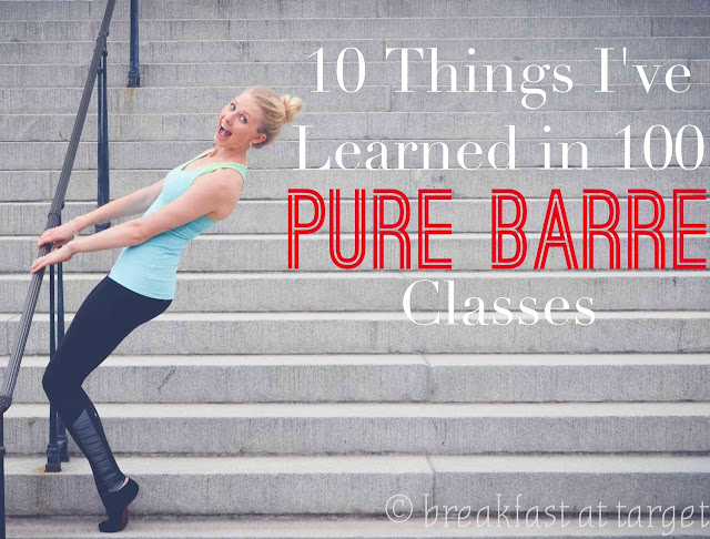 Pure Barre Review | 10 Things I Learned in 100 Classes via www.breakfastattarget.com