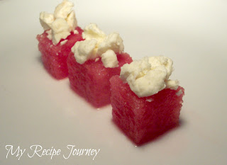 Watermelon Cubes with Feta