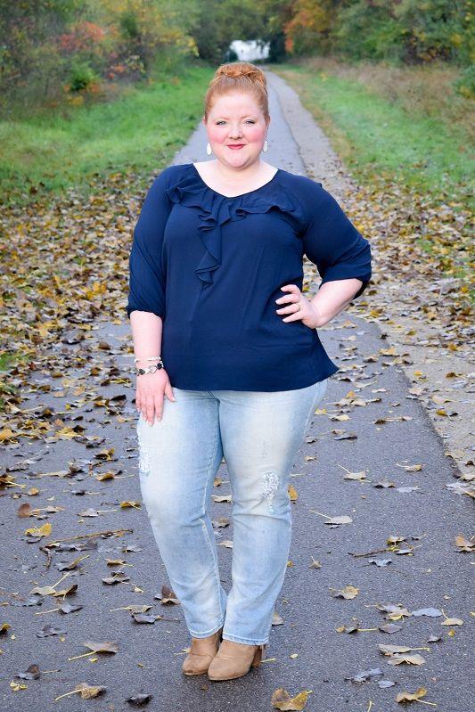 Azul, color tendencia otoño 2019. Moda para gorditas