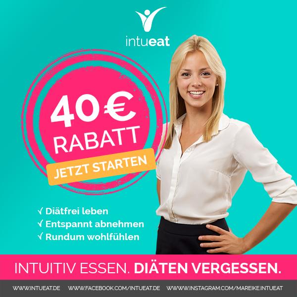 EXTRA FÜR MEINE LESER GIBT ES 40€RABATT