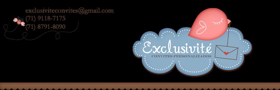 exclusivité - convites e lembranças