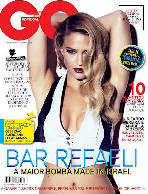 Fotos Bar Refaeli GQ Portugal - Fevereiro 2013