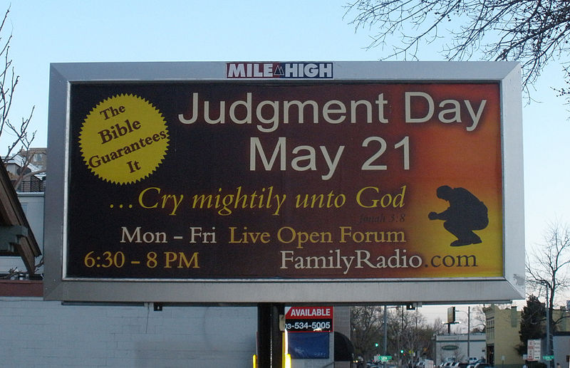judgment day may 21. Day - End of the World May