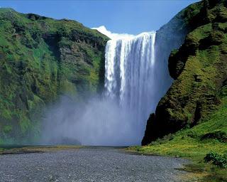 waterfall landscape wallpaper