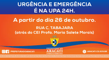 Prefeitura do Aracati. Clique na imagem para ir ao site