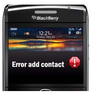 ... : Home > Tips > Tips Mengatasi BlackBerry Error Saat Tambah Kontak