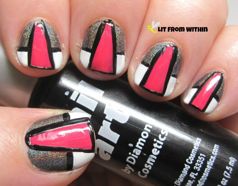 Nothing brings a nail art look together like a black striper