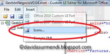 Opciones para Insertar imágenes en un documento de Excel.