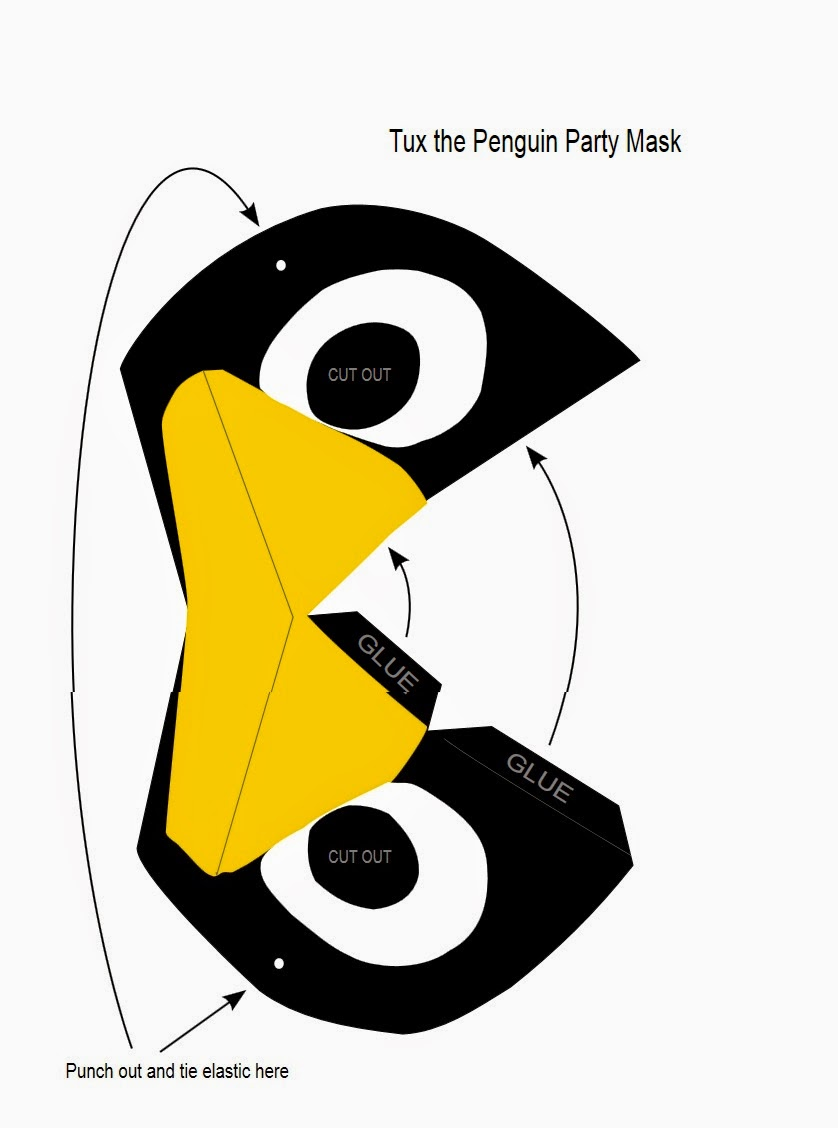máscara de pinguino