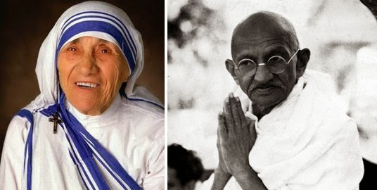 Mother Teresa and Mahatma Gandhi