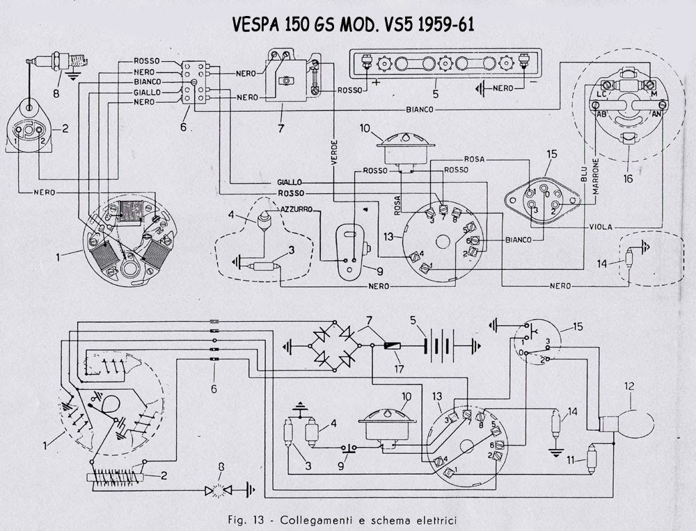 Schemi Elettrici Come Leggerli : Vespa e basta tutti gli schemi elettrici o quasi delle