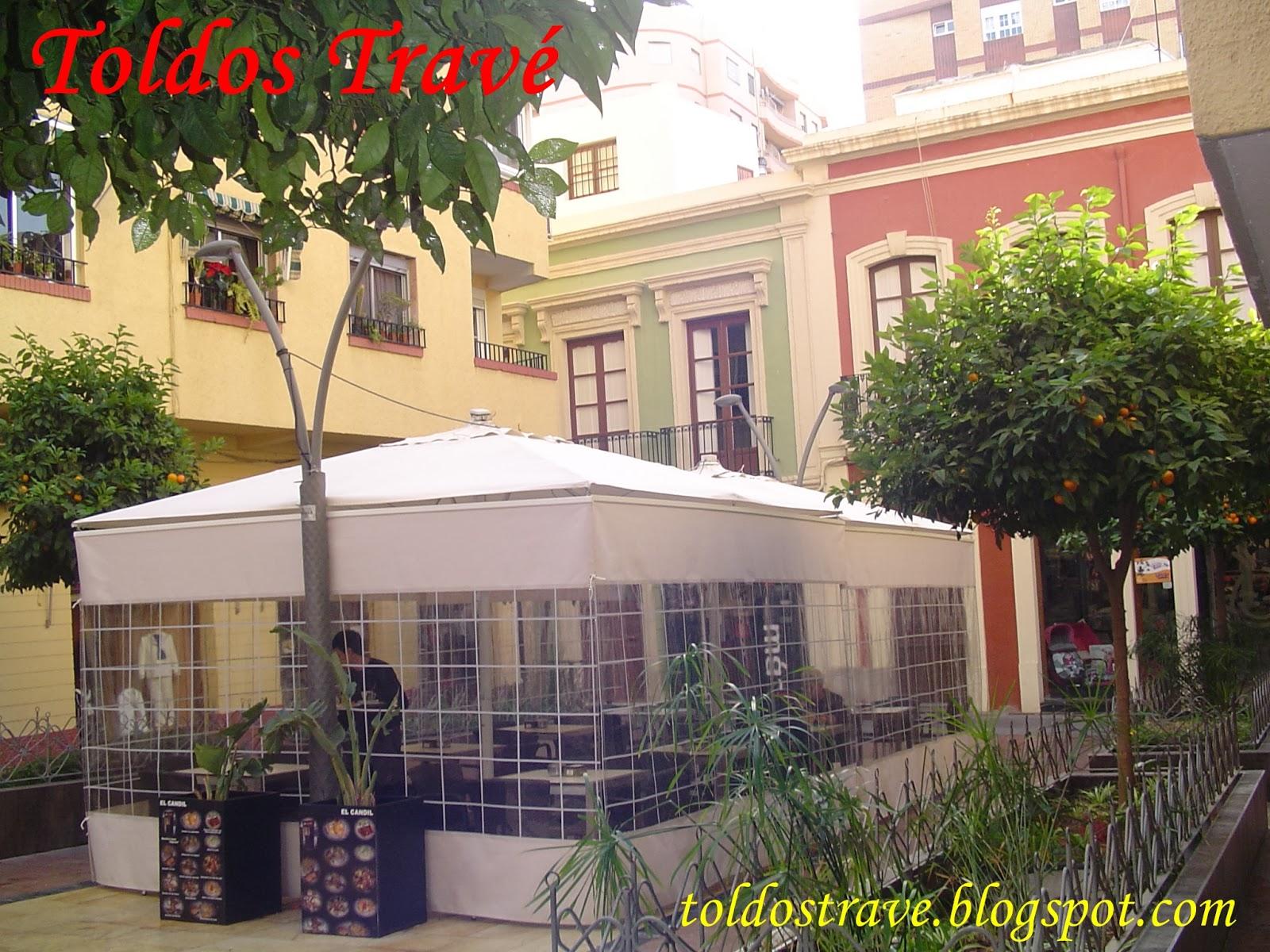 Toldos trav novedad cortina para sombrilla for Toldos moviles para terrazas