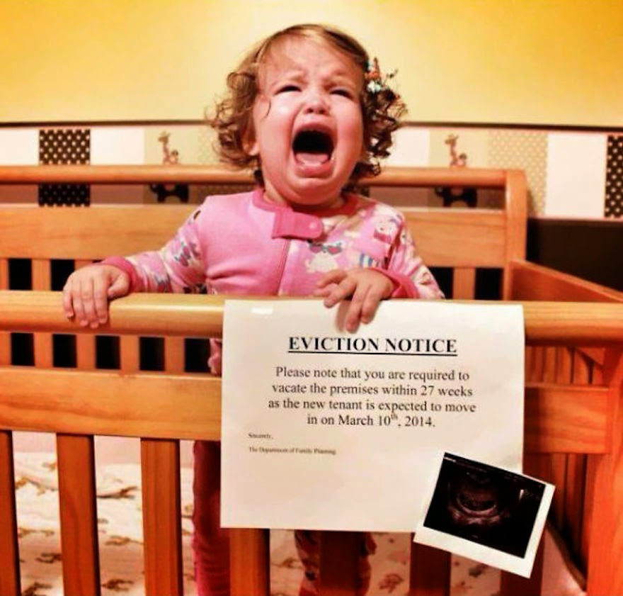 30 Of The Most Creative Baby Announcements Ever - Out With The Old, In The New