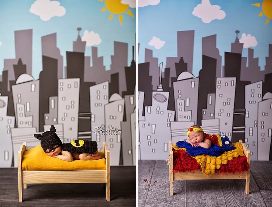 #15 Baby Batman And Baby Wonder Woman - 22 Geeky Newborns Who Are Following In Their Parents' Nerdy Footsteps