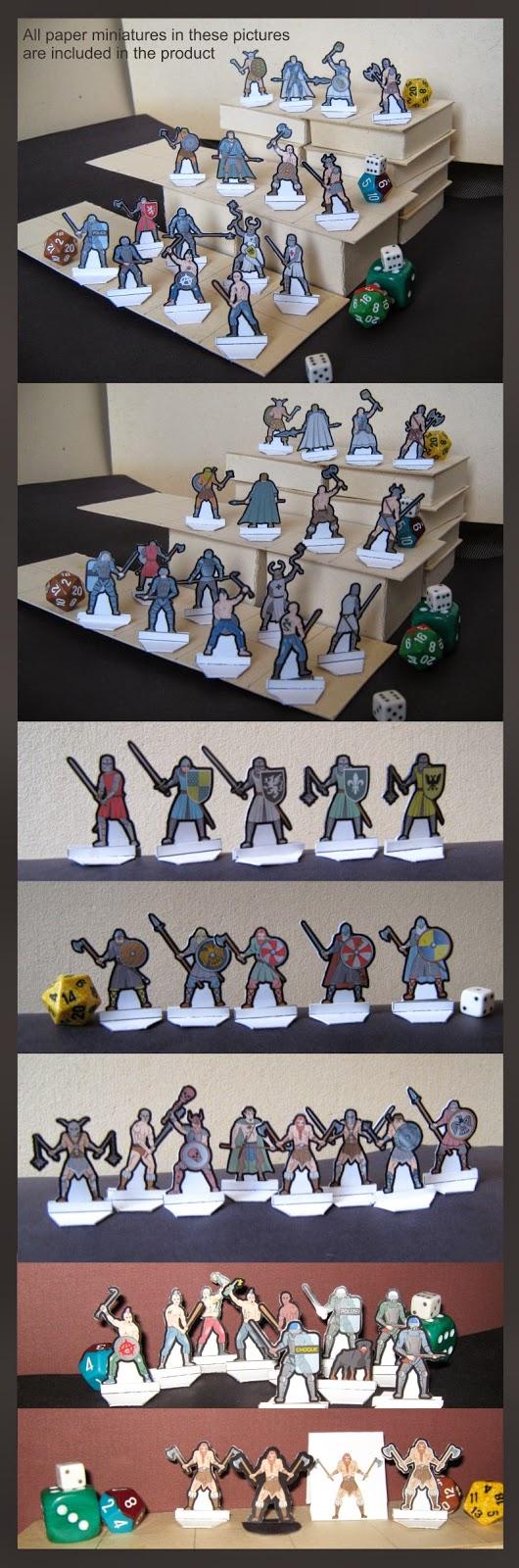 LVMENES Paper Miniatures Warriors