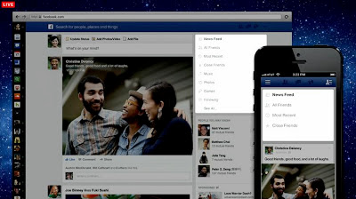 Facebook latest look