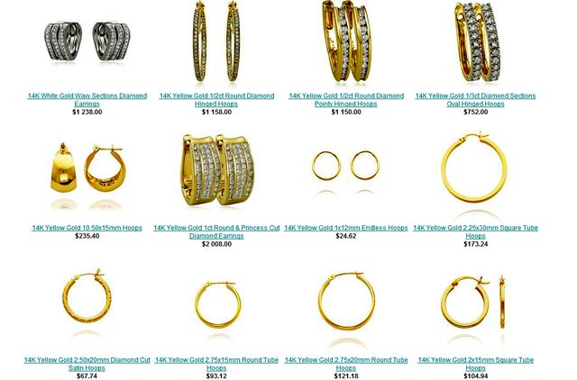Large Hoop Earrings at JewelryAdviser.com