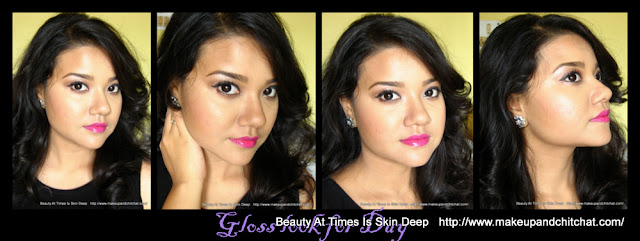 Fuchsia lips makeup Look with Nivedita Kolkata Beauty Blogger