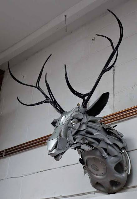 Attractive Animal Sculptures made out of old automobile parts and scrap metals | Amazing sculptures created by artists