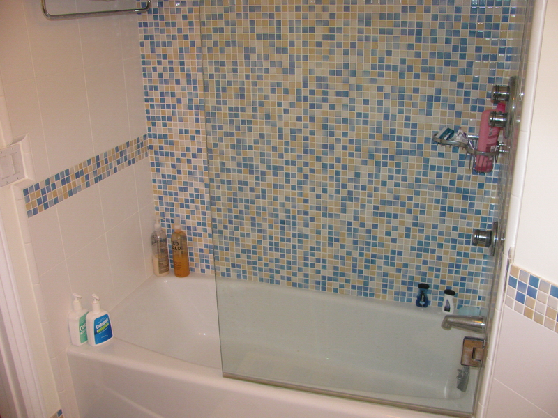 Beautiful Shower But Why Did They Ruin It With That Ugly Diagonal Border?  It Would Also Look Better With Frameless Glass But I Know That Stuff Is  Pricey! Part 58