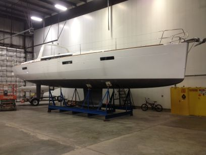 Beneteau 46 - paint prep started