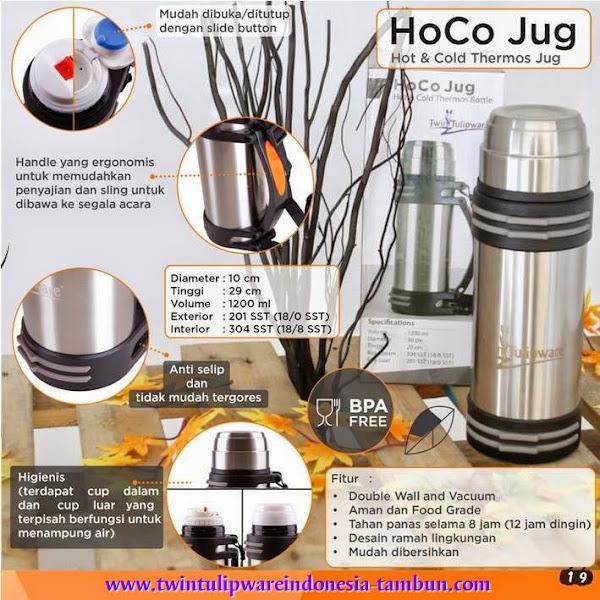 HoCo Jug : Botol Thermos Tulipware Hot & Cold 2014