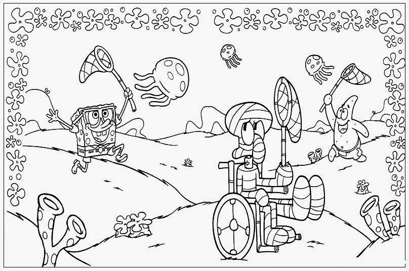 kids under 7 spongebob squarepants coloring pages on spongebob color by number coloring pages