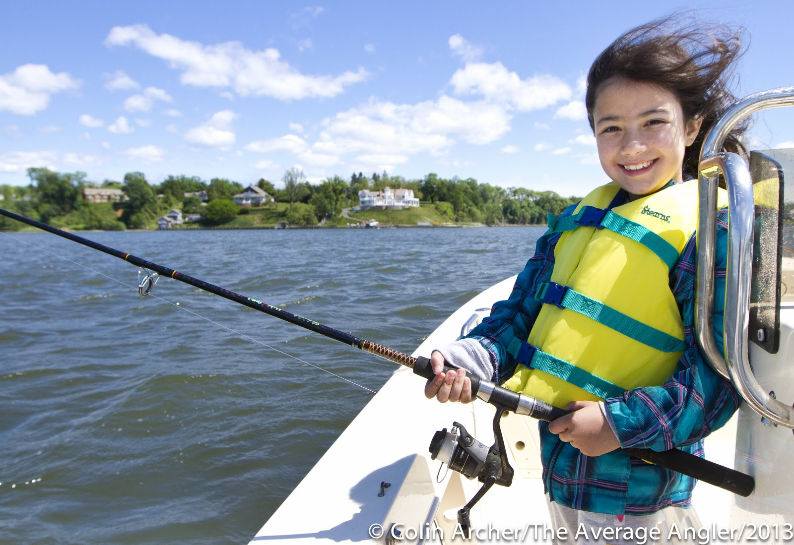 The average angler when you take a kid fishing for Take a kid fishing