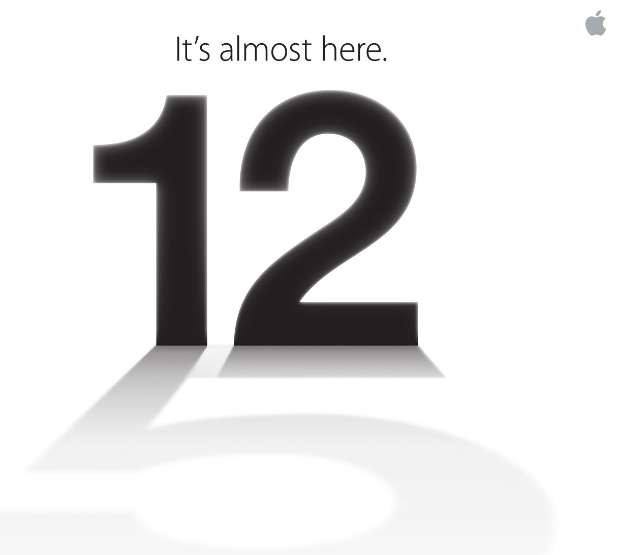 September 12th: It's almost here Apple invitation