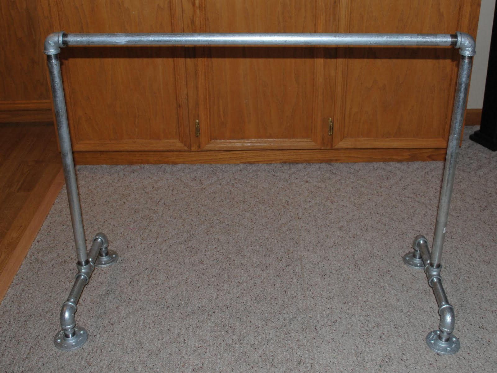 So here is the cheap alternative my husband made. It is working out perfect and is super solid. He just went to the local hardware store ... : pvc pipe ballet barre - www.happyfamilyinstitute.com