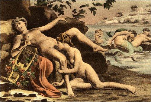 como fazer sexo oral nela Ilustracao de Edouard-Henri Avril para o sexo oral entre mulheres
