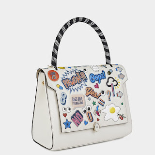 Anya Hindmarch All Over Stickers Small Bathurst Satchel