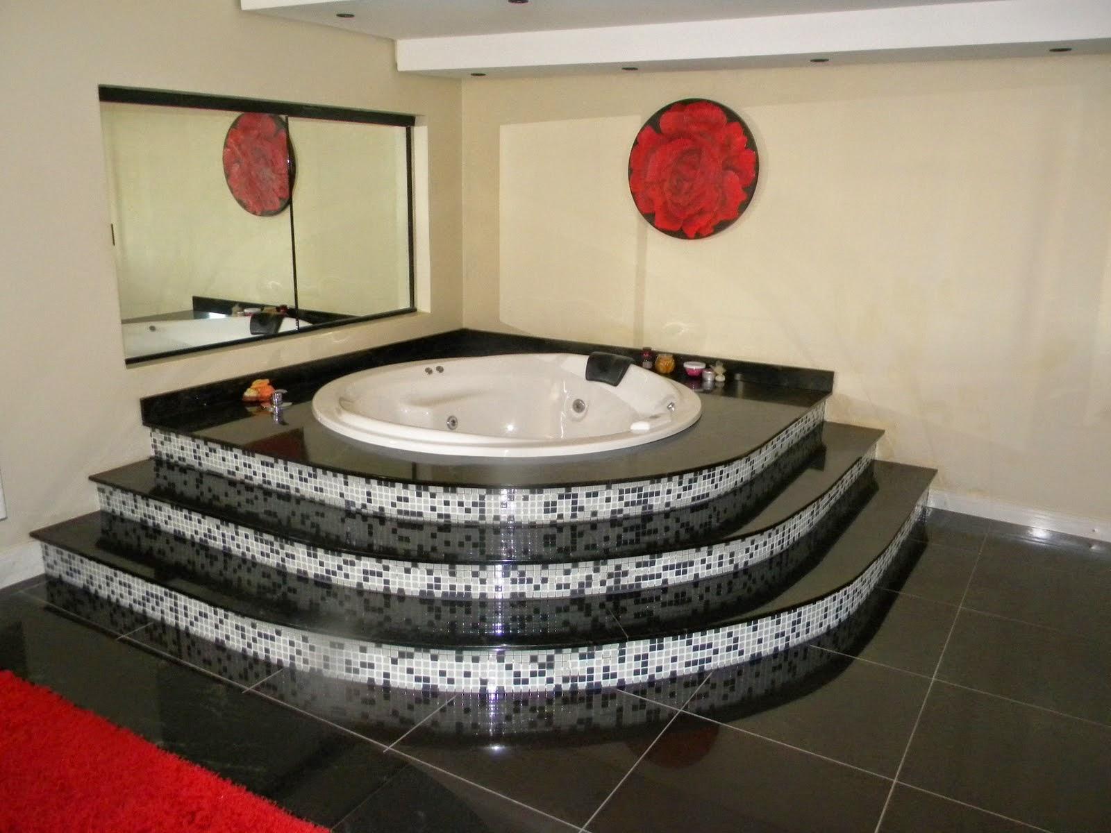 #B01B1B Como decorar um banheiro com piso de granito preto 1600x1200 px Banheiros De Granito Preto 1323