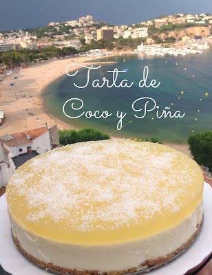 tarta de coco y piña