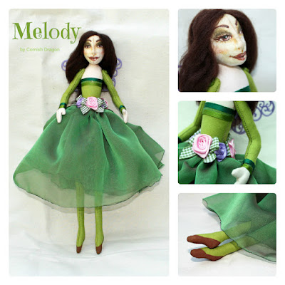 melody nature fairy art doll