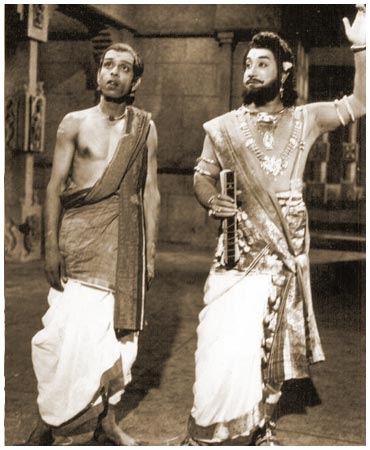 Shivaji Ganesan & Nagesh in 'Thiruvilaiyadal' Movie