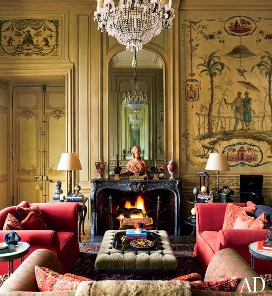 Interiors : Decorating a Great French Country House - architectural digest