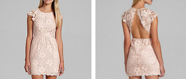 BCBGeneration pink lace dress from the Bachelor Lesley M