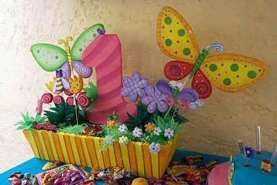 Fiestas infantiles decoraci n mariposas for Mariposas de decoracion para pared