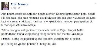 Zam tidak tahu beza election dan erection-Rizal Mansor