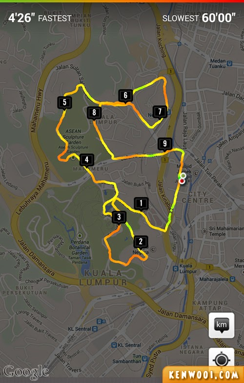 tm fan run 2014 10km route