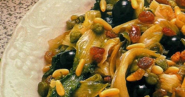 Scarola alle olive  Insalata cotta