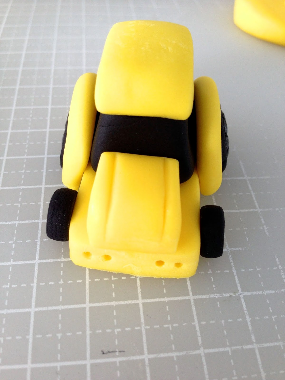 Bake A Boo The Little Yellow Digger Truck Cake Topper