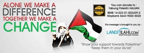 Menyumbang Untuk Palestin