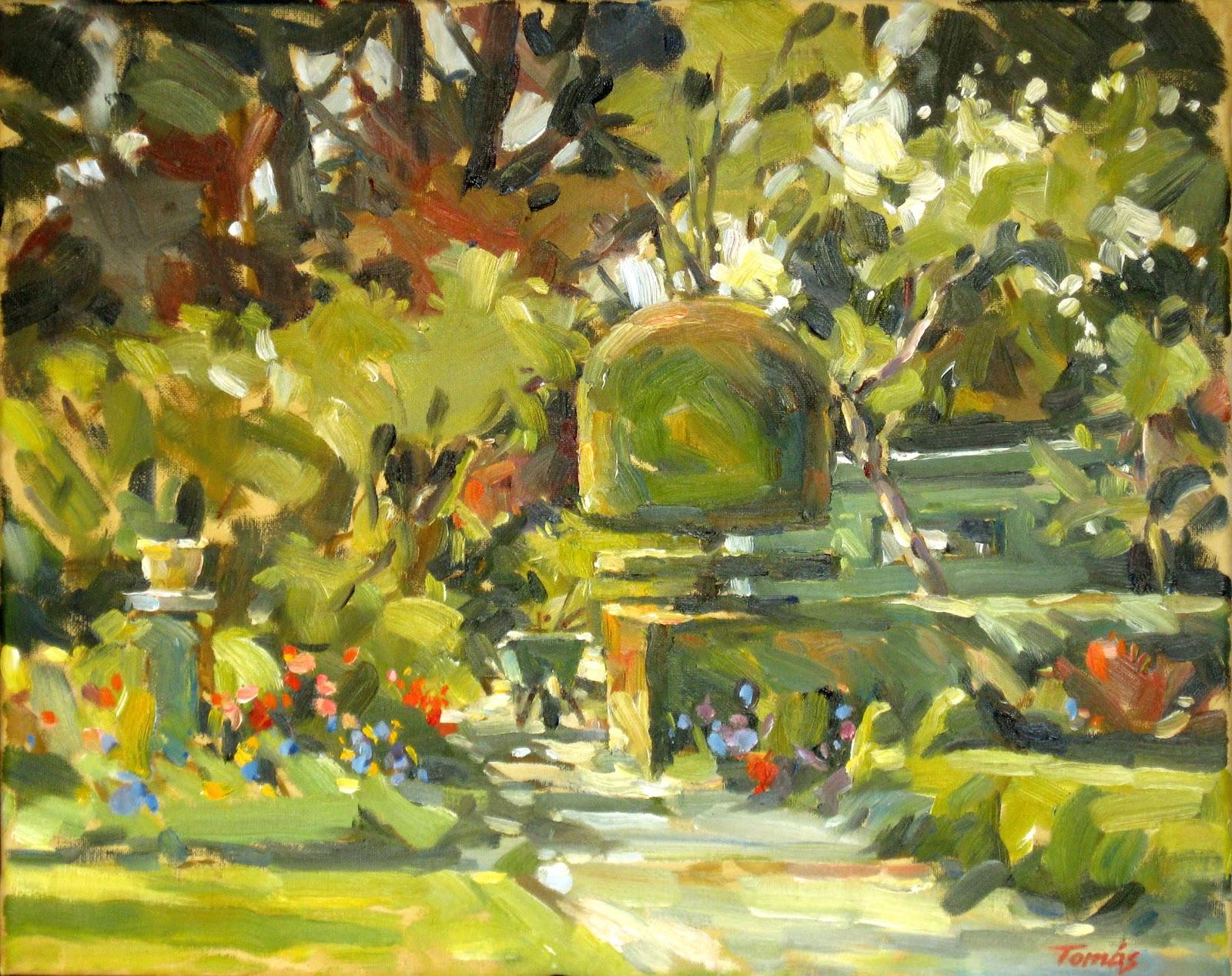 Studio Tomas King  Three New Garden Paintings