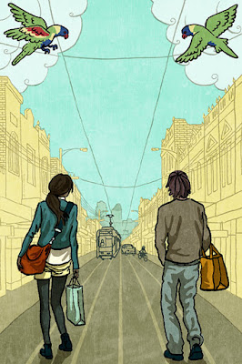 Sydney Road shopping guide cover illustration
