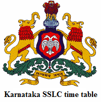 KSEEB Karnataka Board SSLC / 10th Time Table 2015