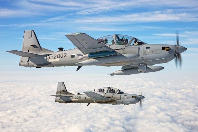 Afganistán recibe sus primeros A-29B Super Tucano