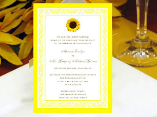 Sunflower wedding themes
